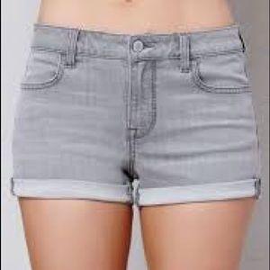Pacsun Pari Gray Super Stretch Shortie Shorts